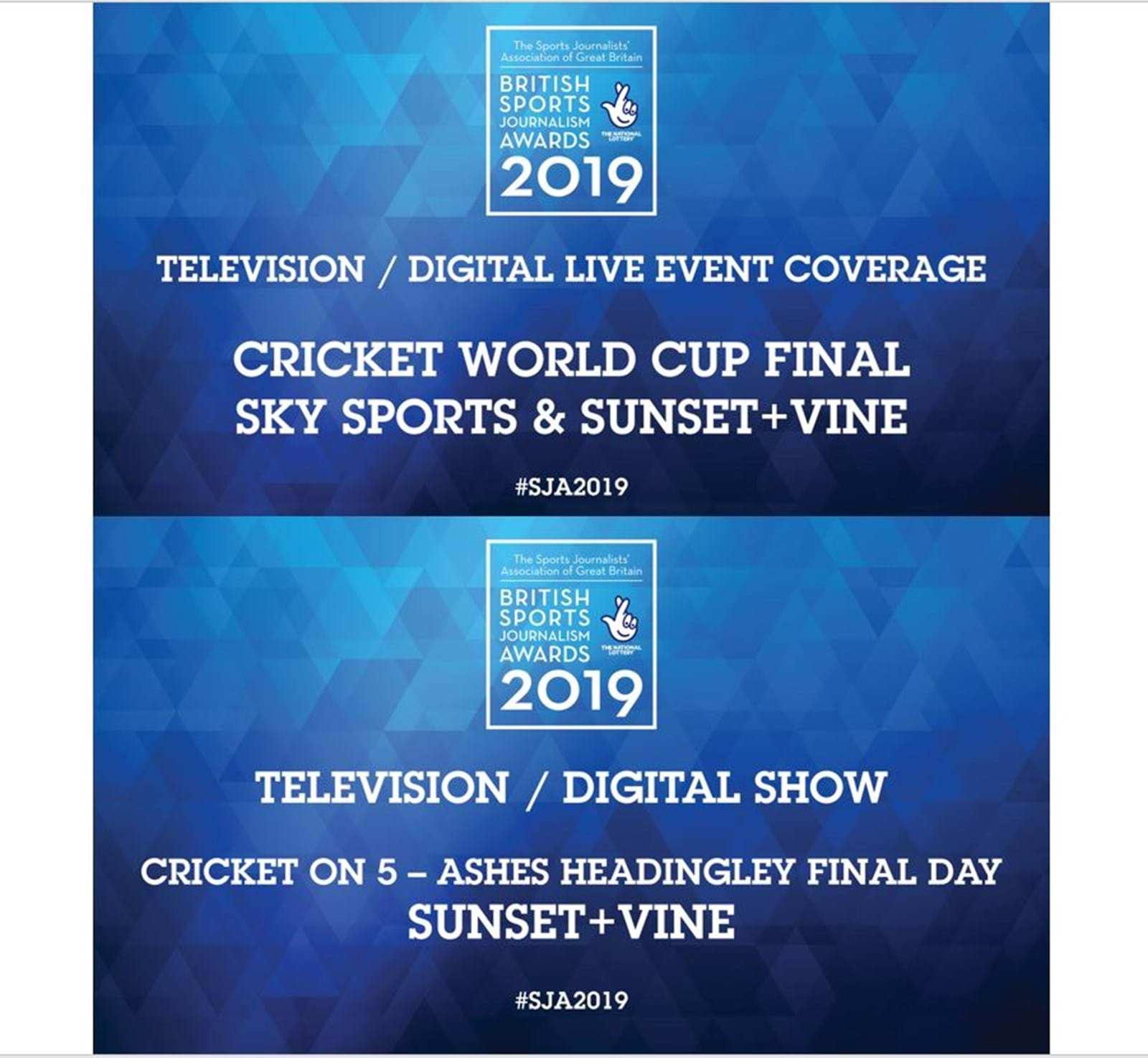 Sunset+Vine pick up two wins at Sports Journalism Awards 2020