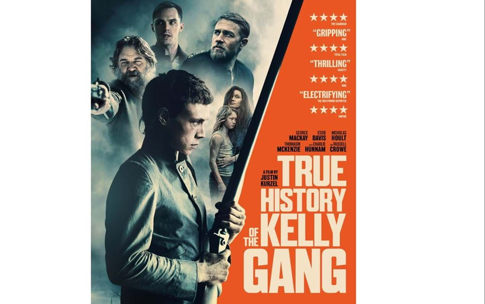 Daybreak Pictures' True History of the Kelly Gang is out released in UK cinemas today
